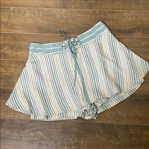 FREE PEOPLE 2 Engineer Striped Skorts Wrap Shorts